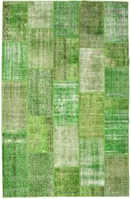 Patchwork Rug 201X308 Authentic  Modern Handknotted Light Green/Olive Green (Wool, Turkey)
