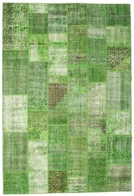Patchwork Rug 200X297 Authentic  Modern Handknotted Light Green/Green  (Wool, Turkey)