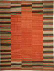 Kilim Modern Rug 265X358 Authentic  Modern Handwoven Rust Red/Dark Brown Large (Wool, Persia/Iran)