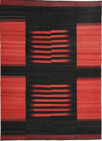 Kilim Nowoczesne Dywan 211X302 Nowoczesny Tkany Ręcznie Czarny/Rdzawy/Czerwony (Wełna, Persja/Iran)