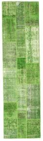 パッチワーク 絨毯 81X299 モダン 手織り 廊下 カーペット ライトグリーン/パステルグリーン (ウール, トルコ)