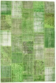 Patchwork Rug 201X303 Authentic  Modern Handknotted Light Green/Dark Green (Wool, Turkey)