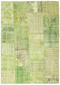 Patchwork Covor 160X224 Modern Lucrat Manual Lumina Verde (Lână, Turcia)