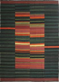 Kelim Moderní Koberec 209X297 Moderní Ruční Tkaní Tmavě Zelený/Tmavošedý (Vlna, Persie/Írán)