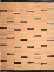 Kelim Moderni Matto 264X360 Moderni Käsinkudottu Tummanbeige/Vaaleanruskea Isot (Villa, Persia/Iran)