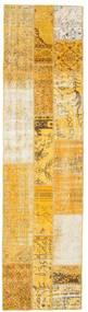 Patchwork Szőnyeg 81X310 Modern Csomózású Világosbarna/Sárga (Gyapjú, Törökország)