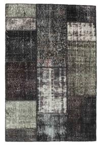 Patchwork Rug 121X183 Authentic  Modern Handknotted Dark Grey/Black (Wool, Turkey)