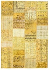 パッチワーク 絨毯 160X231 モダン 手織り 黄色/ベージュ (ウール, トルコ)