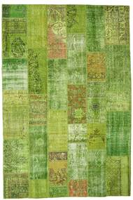 Patchwork Rug 202X302 Authentic  Modern Handknotted Olive Green/Light Green (Wool, Turkey)