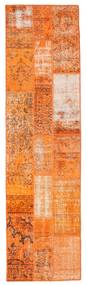 Patchwork Rug 80X299 Authentic  Modern Handknotted Hallway Runner  Orange/Light Brown (Wool, Turkey)
