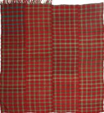 Kelim Moderni Matto 192X205 Moderni Käsinkudottu Neliö Tummanpunainen/Tummanruskea (Villa, Persia/Iran)