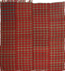 Kelim Moderne Vloerkleed 192X205 Echt Modern Handgeweven Vierkant Donkerrood/Donkerbruin (Wol, Perzië/Iran)