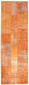 Patchwork Rug 81X250 Authentic  Modern Handknotted Hallway Runner  Orange/Light Brown (Wool, Turkey)