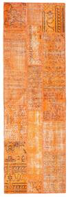 Patchwork Rug 82X251 Authentic  Modern Handknotted Hallway Runner  Orange/Dark Beige (Wool, Turkey)