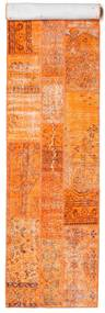 Patchwork Rug 81X398 Authentic  Modern Handknotted Hallway Runner  Orange/White/Creme (Wool, Turkey)