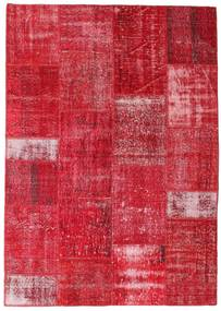 Patchwork Rug 160X226 Authentic  Modern Handknotted Crimson Red/Rust Red (Wool, Turkey)