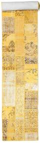 Patchwork Rug 81X600 Authentic  Modern Handknotted Hallway Runner  Yellow/Light Brown/Beige (Wool, Turkey)