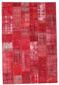 Patchwork Rug 201X299 Authentic  Modern Handknotted Crimson Red/Rust Red (Wool, Turkey)