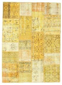 Patchwork Rug 142X193 Authentic  Modern Handknotted Yellow/Beige (Wool, Turkey)