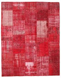 Patchwork Rug 200X256 Authentic  Modern Handknotted Crimson Red/Rust Red (Wool, Turkey)