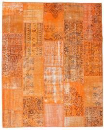Patchwork Matto 199X247 Moderni Käsinsolmittu Oranssi/Vaaleanruskea (Villa, Turkki)