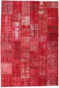 Patchwork Rug 201X298 Authentic  Modern Handknotted Crimson Red/Rust Red/Pink (Wool, Turkey)