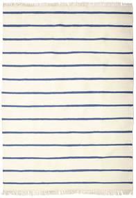 Dhurrie Stripe - White / Blue rug CVD16269