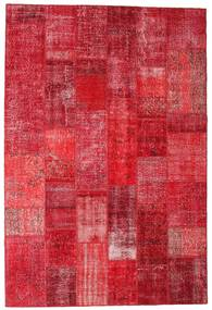 Patchwork Rug 201X300 Authentic  Modern Handknotted Crimson Red/Rust Red (Wool, Turkey)