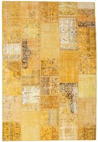 Patchwork Matto 202X302 Moderni Käsinsolmittu Vaaleanruskea/Keltainen (Villa, Turkki)