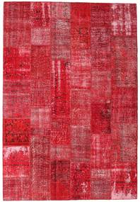 Patchwork Rug 204X300 Authentic  Modern Handknotted Crimson Red/Rust Red (Wool, Turkey)