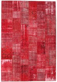 Patchwork Matto 204X300 Moderni Käsinsolmittu Punainen/Ruoste (Villa, Turkki)
