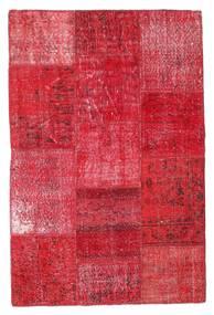 Patchwork Matto 120X181 Moderni Käsinsolmittu Punainen/Ruoste (Villa, Turkki)
