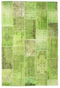 Patchwork Rug 200X298 Authentic  Modern Handknotted Light Green/Olive Green (Wool, Turkey)