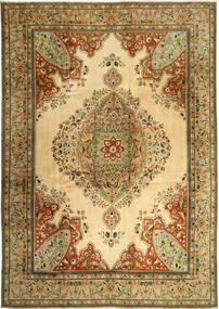 Tabriz Tapis 270X380 D'orient Fait Main Marron/Vert Clair Grand (Laine, Perse/Iran)