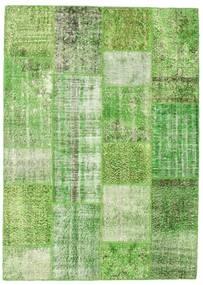 Patchwork Tappeto 161X225 Moderno Fatto A Mano Verde Chiaro/Verde Pastello/Verde (Lana, Turchia)