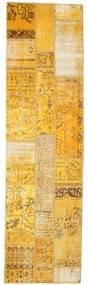 Patchwork Rug 81X299 Authentic  Modern Handknotted Hallway Runner  Yellow/Light Brown (Wool, Turkey)