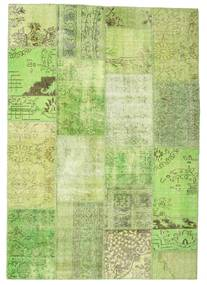 Patchwork Rug 161X232 Authentic  Modern Handknotted Light Green (Wool, Turkey)