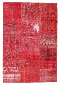 Patchwork Matto 121X178 Moderni Käsinsolmittu Punainen/Pinkki/Ruoste (Villa, Turkki)