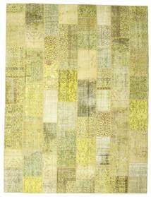 パッチワーク 絨毯 304X400 モダン 手織り 黄色/オリーブ色 大きな (ウール, トルコ)
