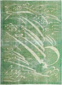Colored Vintage Alfombra 210X288 Moderna Hecha A Mano Verde Oliva/Verde Pastel (Lana, Persia/Irán)