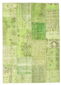 Patchwork Teppe 159X225 Ekte Moderne Håndknyttet Lysgrønn/#missing(0,)# (Ull, Tyrkia)