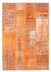 Patchwork Tapis 140X202 Moderne Fait Main Orange/Marron Clair (Laine, Turquie)