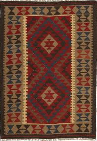 Kilim Maimane Szőnyeg 102X146 Keleti Kézi Szövésű Fekete/Barna (Gyapjú, Afganisztán)
