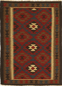 Kilim Maimane Szőnyeg 100X147 Keleti Kézi Szövésű Fekete/Sötétbarna (Gyapjú, Afganisztán)