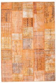 Patchwork Szőnyeg 203X300 Modern Csomózású Világosbarna/Sötét Bézs/Narancssárga (Gyapjú, Törökország)