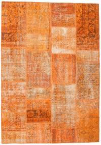 Patchwork Rug 161X231 Authentic  Modern Handknotted Orange/Light Brown (Wool, Turkey)