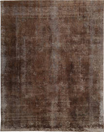 Colored Vintage Rug 290X379 Authentic  Modern Handknotted Brown/Dark Brown Large (Wool, Persia/Iran)