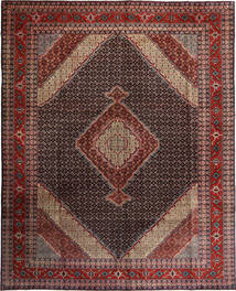 Ardebil Rug 300X376 Authentic  Oriental Handknotted Dark Red/Light Brown Large (Wool, Persia/Iran)
