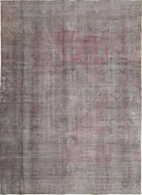 Colored Vintage Rug 279X381 Authentic  Modern Handknotted Dark Brown/Dark Grey Large (Wool, Persia/Iran)
