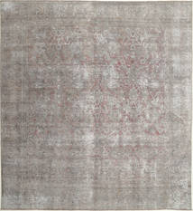 Colored Vintage Rug 295X321 Authentic  Modern Handknotted Square Light Grey/Dark Grey Large (Wool, Persia/Iran)
